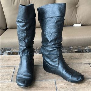 STEVE MADDEN BRIO LEATHER BOOT